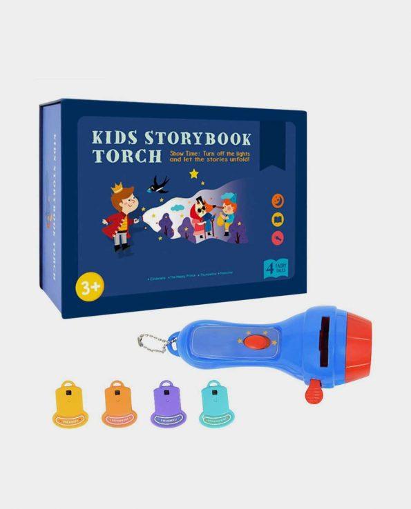 Proyector para niños con 4 cuentos Kids Storybook Torch Big