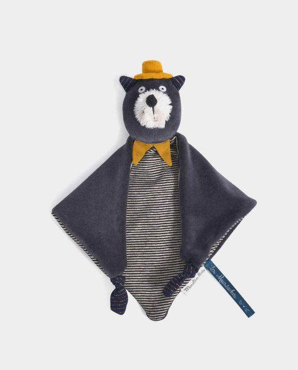 Doudou Gato gris Moustache Moulin Roty
