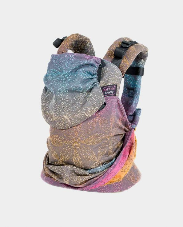 Mochila ergonómica portabebé Emeibaby Easy Baali Rainbow Dark