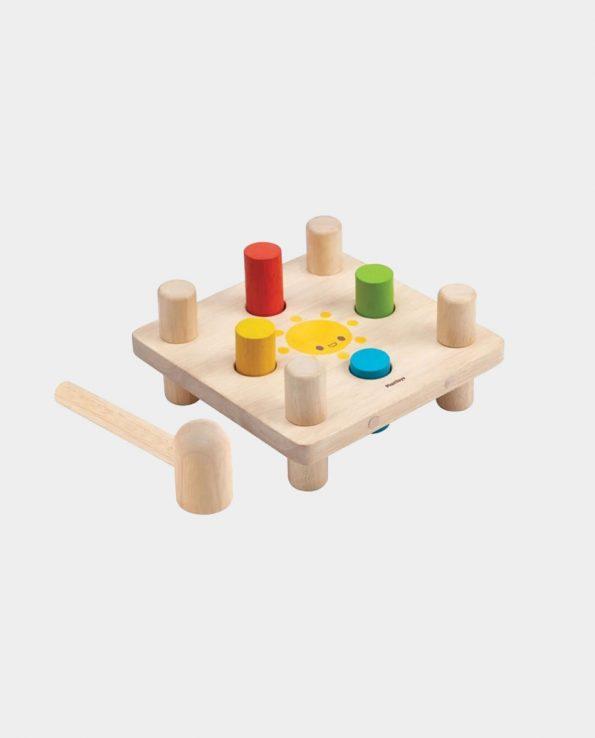Picafuerte de madera para niños Golpea los Colores Plantoys