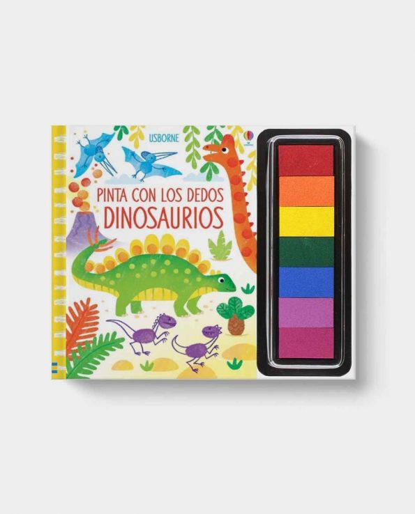 Libro infantil Pinta con los dedos Dinosaurios de Usborne. Libro para niños pintar con los dedos