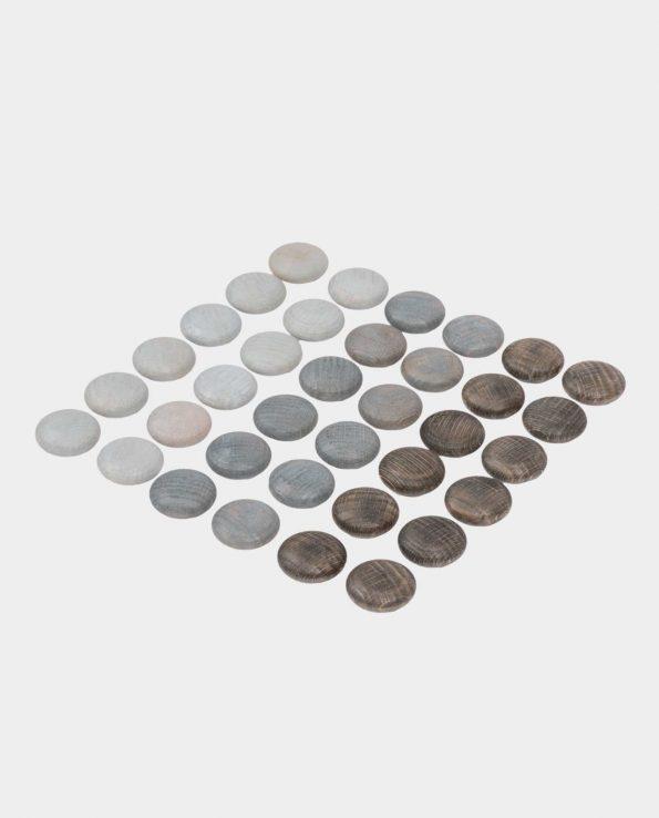 Mandalas piedras grises de madera de Grapat