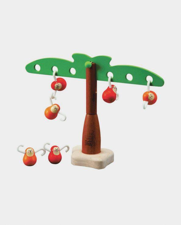 Juego para niños montessori de madera Monos en equilibrio de Plantoys