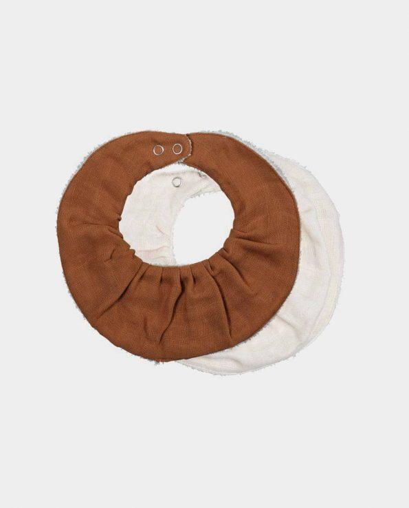 Babero fabelab caldera wood marron de algodón