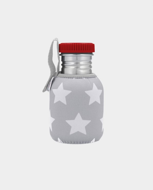 Botella Acero con Funda Estrellas Gris 350 ml