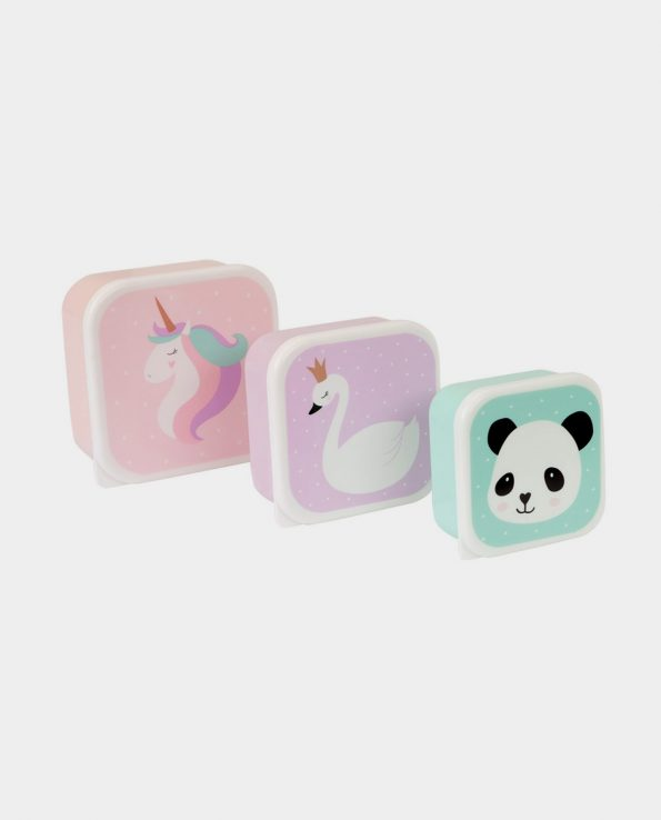 Pack de 3 Tuppers Unicornio