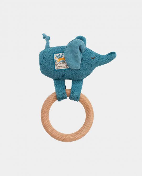 Sonajero con Anilla Baobab Moulin Roty elefante
