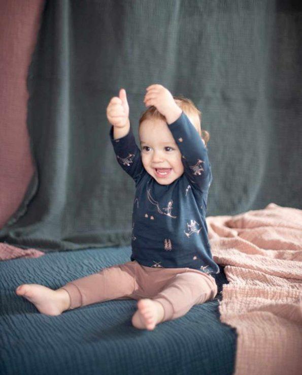 Camiseta para niño Snow Nocturnal Blue Baby Clic algodón orgánico 100%