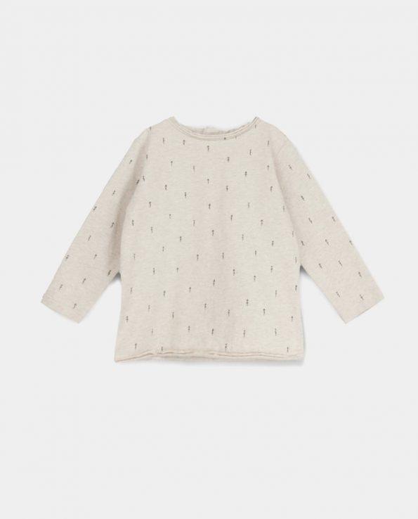 Camiseta Woods Beige Baby Clic de algodón orgánico 100%