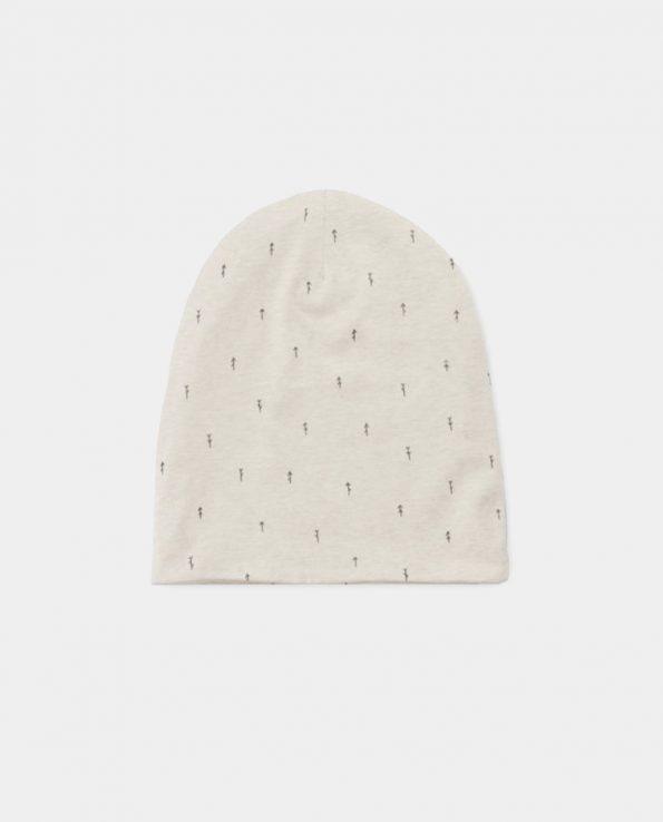 Gorro de invierno para niño Woods Beige Baby Clic de algodón 100% orgánico