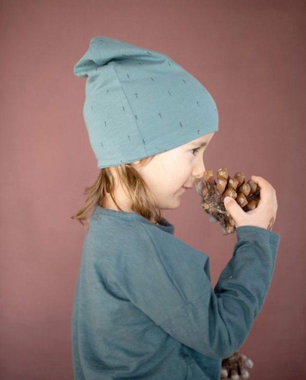 Gorro de invierno para niño Woods Verde Baby Clic de algodón 100% orgánico