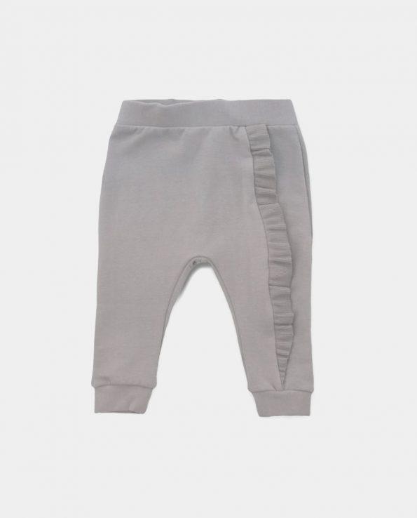 Pantalón para niño de algodón orgánico 100% clic mini Mink Grey