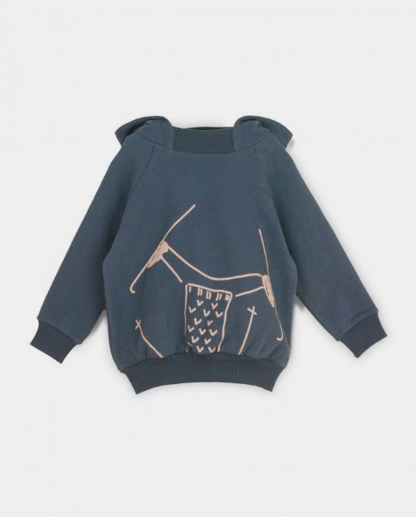 Sudadera Slope para niños de algodón orgánico 100% Nocturnal Blue Baby Clic