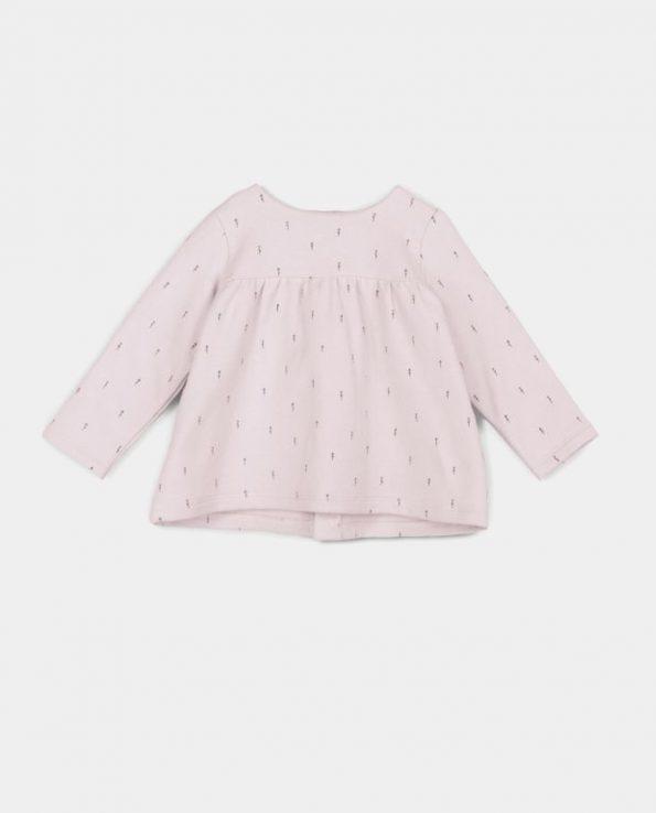 Sudadera para niños de algodón orgánico 100% Woods Rosa Baby Clic