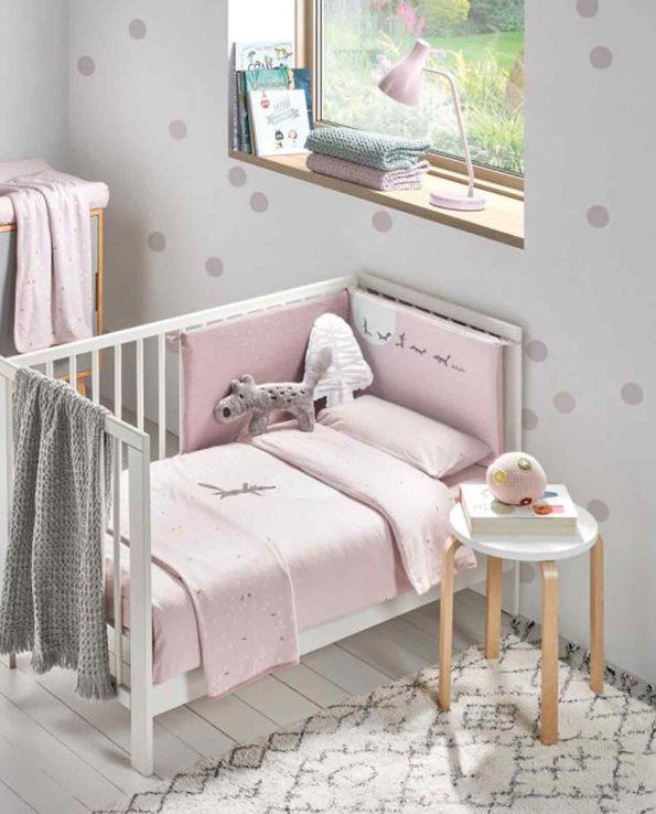 Arrullo para bebés suaves de algodón orgánico Moss Rosa Baby Clic