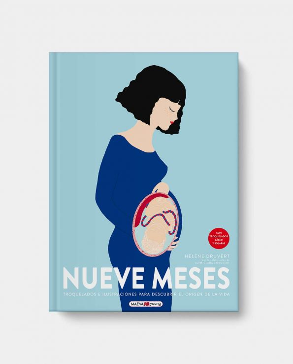 Libro ilustrado sobre el embarazo Nueve Meses de Maeva Young