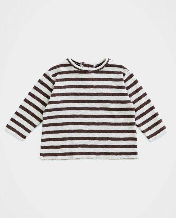 Camiseta Rib Rayas Ricardo Play Up para niño y niña de algodón orgánico 100%