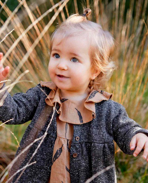 Abrigo Rasp Play Up para niña unisex de algodón orgánico