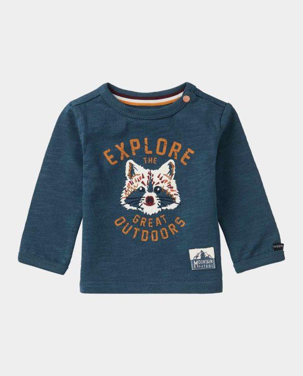 Camiseta Koffiebaai Midnight Navy Noppies para niño unisex de algodón orgánico