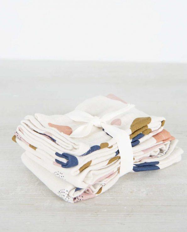 Pack 2 Muselinas Bubbly Sandy Liewood de algodón orgánico para bebé