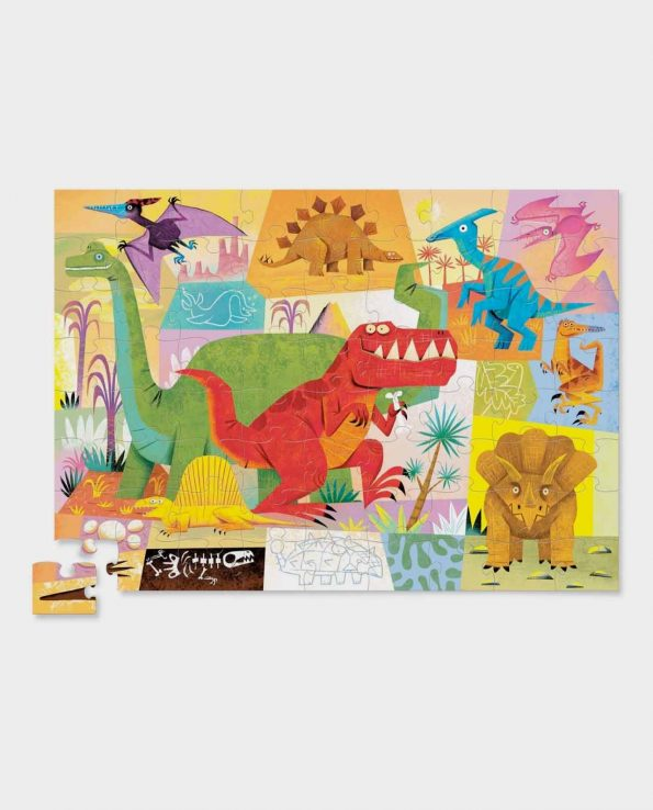 Puzzle 72 piezas Dinosaur Crocodile Creek