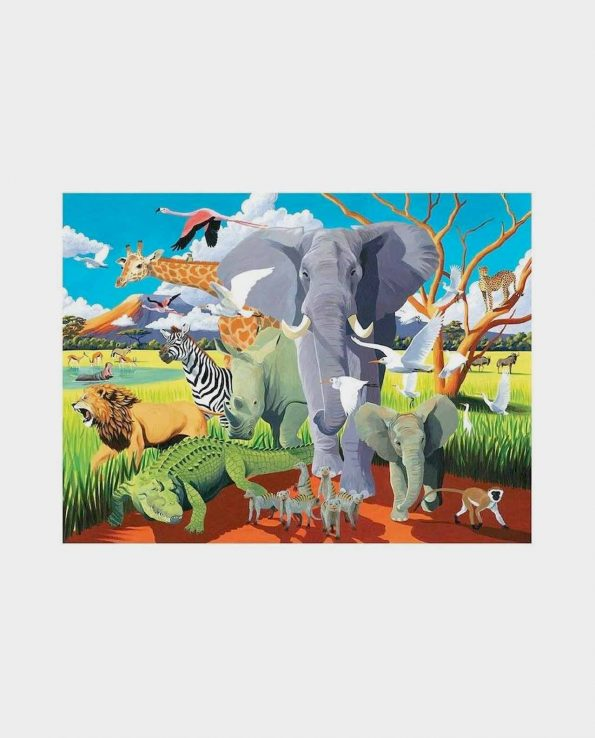 Puzzle + Poster Wild Safari 100 Crocodile Creek