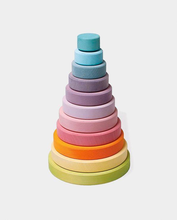 Torre Pastel de discos de colores Grande Grimm's