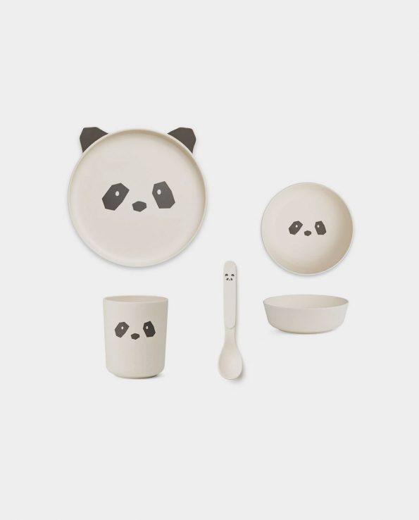 Vajilla Bambú Panda Creme de la Creme Liewood