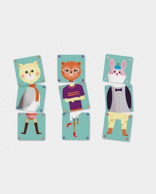 Animomix Djeco juego de asociacion para niños montessori waldorf reggio emilia