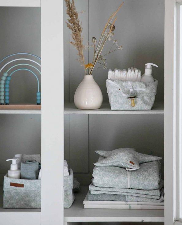 Cesta Organizadora Pequeña Lily Leaves Mint Little Dutch montessori waldorf reggio emilia crianza respetuosa