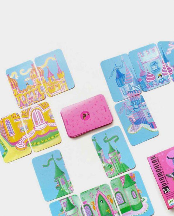 Diamoniak Djeco juego de mesa con cartas y puzzles para niños montessori waldorf reggio emilia
