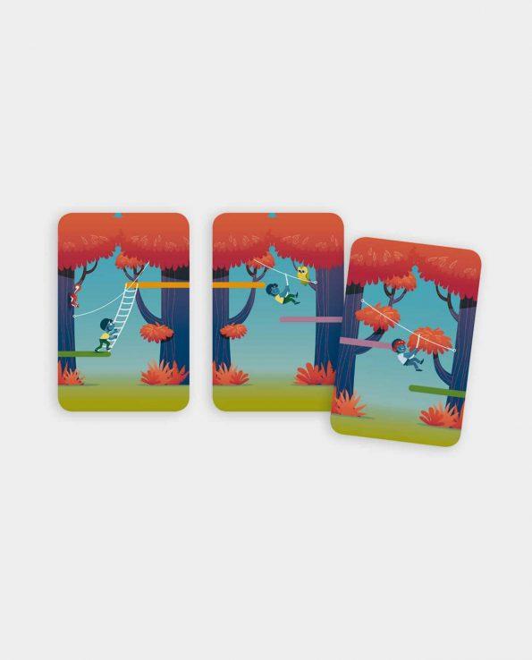 Forest Adventure Djeco juego de cartas para niños montessori waldorf reggio emilia