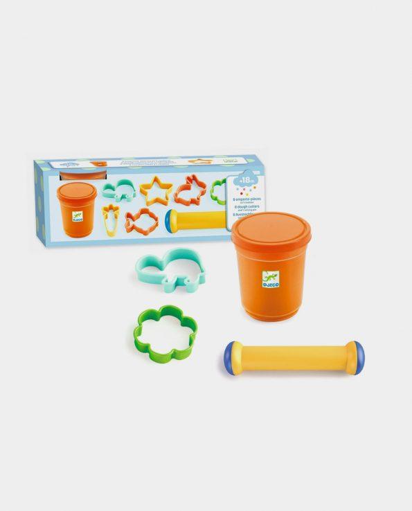 juego de cocina para niños con cortadores de pasta y rodillo montessori waldorf reggio emilia