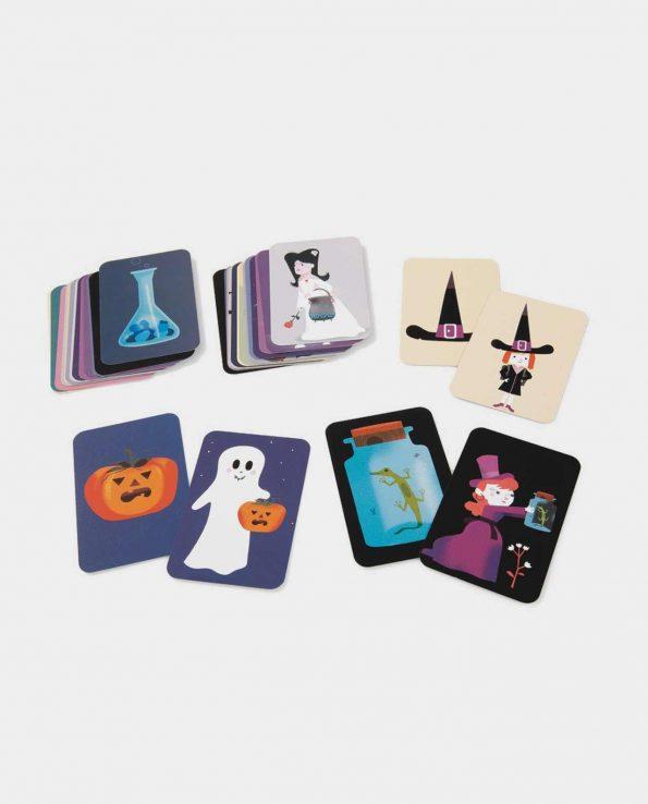 Magic School Djeco juego de memoria con cartas para niños montessori waldorf reggio emilia