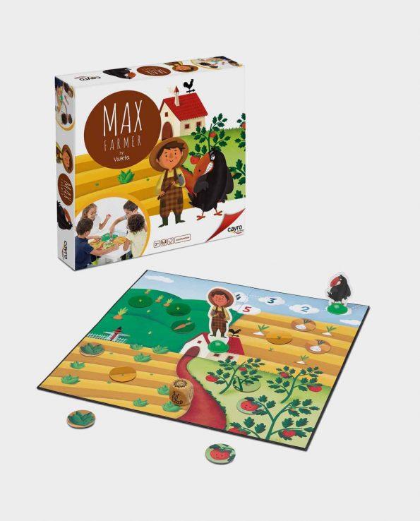 Juego de mesa de granja, huertos y cultivos para niño Max Farmer Cayro