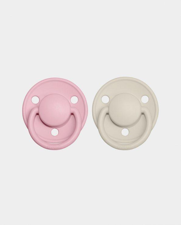 Pack Chupete BIBS DE LUX Ivory y Baby Pink
