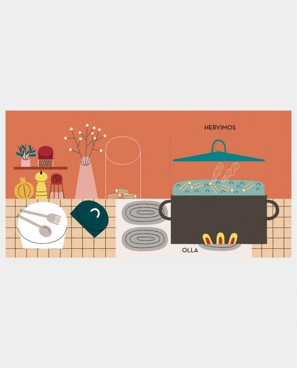 Libro infantil ilustrado Pasta de editorial Flamboyant