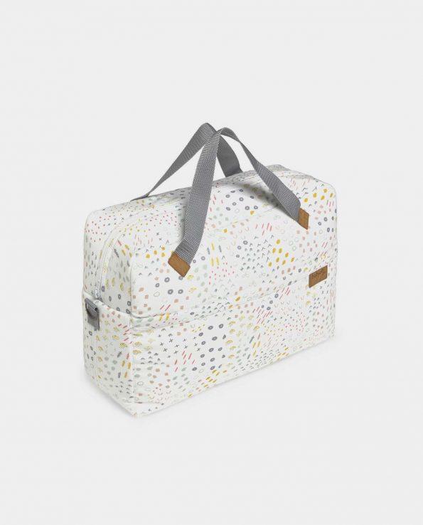 Bolso Mum Bloom de baby Clic Bolso para el carro montessori estampado nórdico minimalista