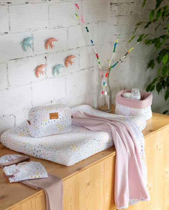 Funda Cambiador 70/80 Bloom montessori estampado nórdico minimalista