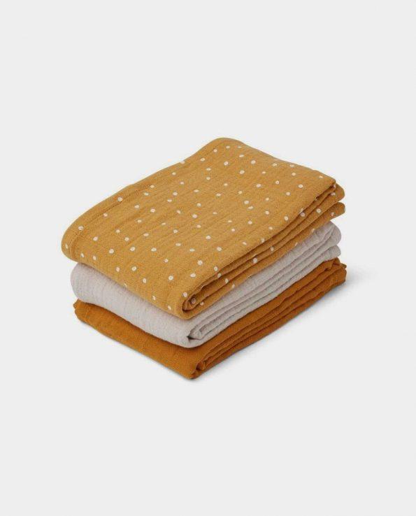 Pack 3 Muselinas Lino Confetti Yellow Liewood