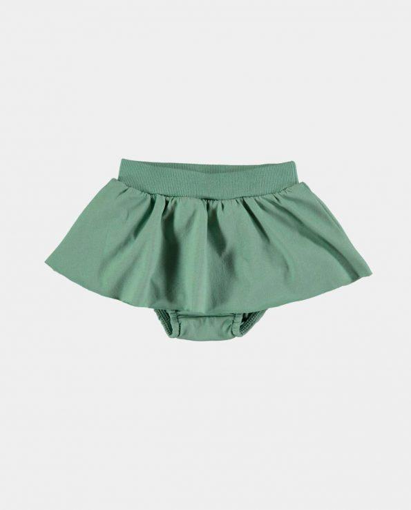 Culotte con Falda Verde Baby Clic