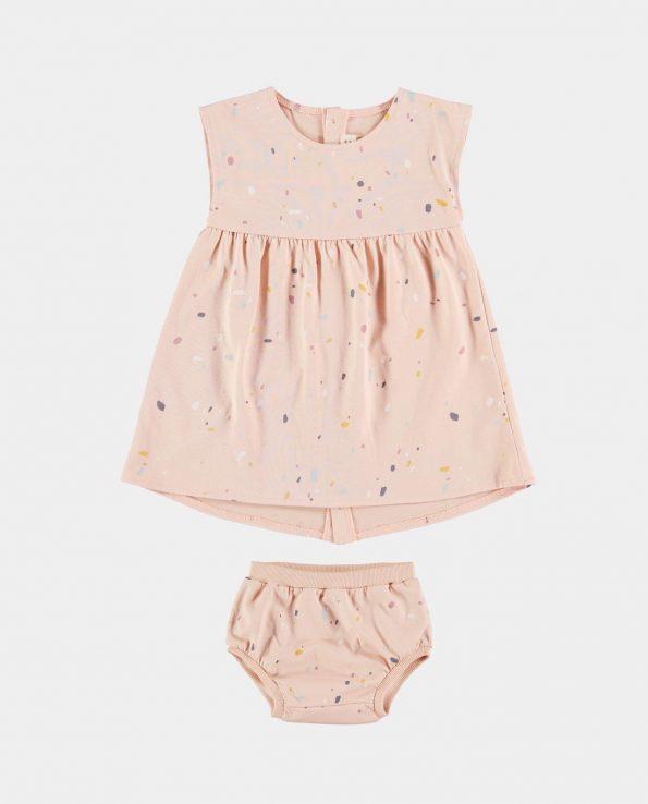 Vestido + Culotte CONFETTI ROSA Baby Clic